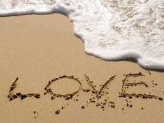 Image of Love Written in the Sand